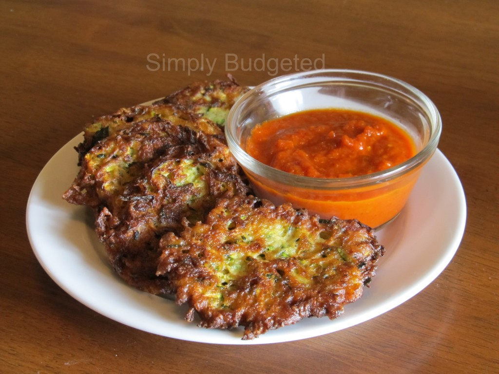 Zucchini Fritters with Marinara