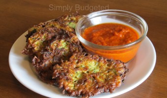 Meatless Monday:  Zucchini Fritters
