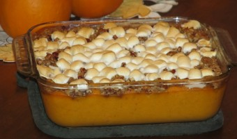 Thanksgiving Memories:  Pecan Crusted Sweet Potato Casserole