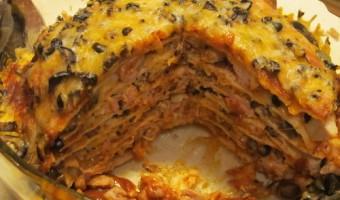 Turkey Leftovers:  Pot Pie and Enchilasagna