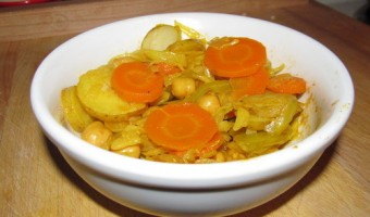 Meatless Monday:  Cabbage, Carrots, Potatoes, and Chickpeas
