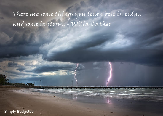 thursday thought calm or storm