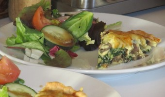 Meatless Monday:  Spinach and Mushroom Quiche