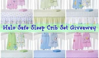 HALO Safe Sleep Crib Set Giveaway #babygifts