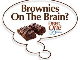 Chocolate Chip Cookie flavor Fiber One® 90 Calorie Brownies