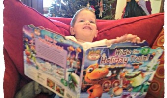 Holiday Dinosaur Train Book and DVD