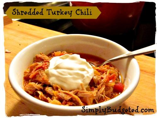 Shredded Turkey Chili