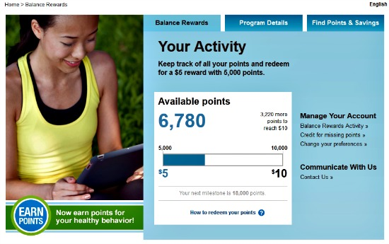 My Balance Rewards Activity