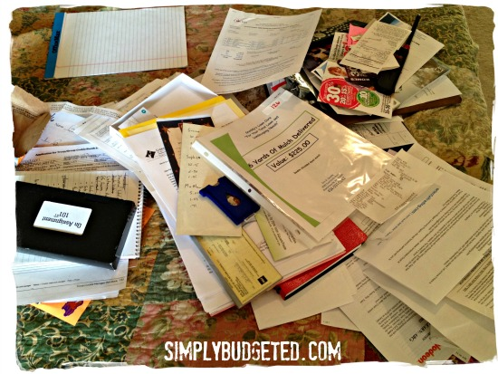 Spring Cleaning the Desk Paperwork