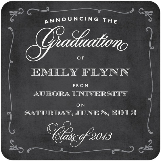 Chalkboard Graduation Announcement from Tiny Prints