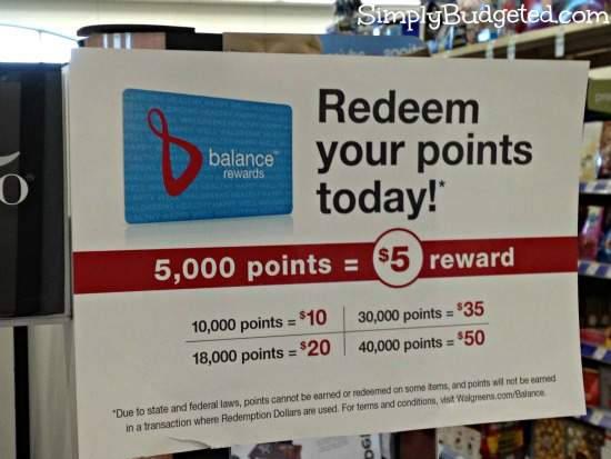 Walgreens Redeem Balance Rewards Details