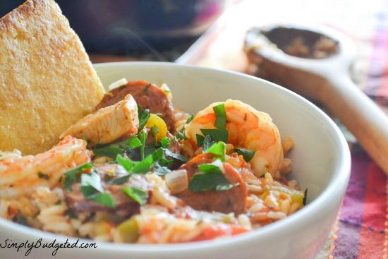 Shrimp, Sausage, and Chicken Jambalaya
