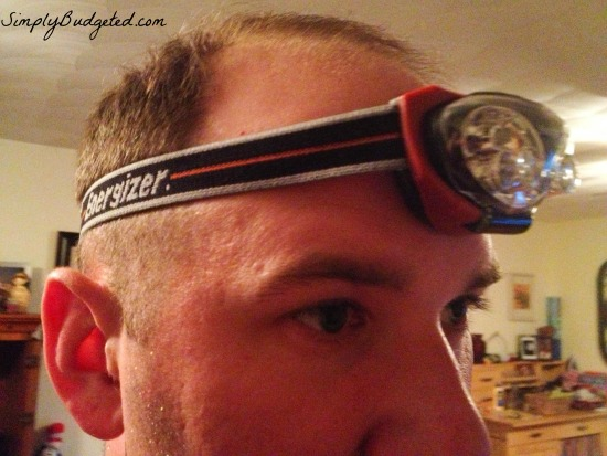Wearing Energizer Work Headlight