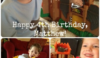 And he is FOUR! … Happy Birthday!