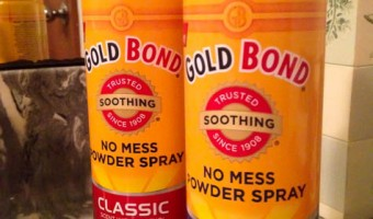 Staying Fresh with Gold Bond No Mess Powder Spray