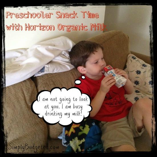 Preschool Snack Time with Horizon Organic Milk