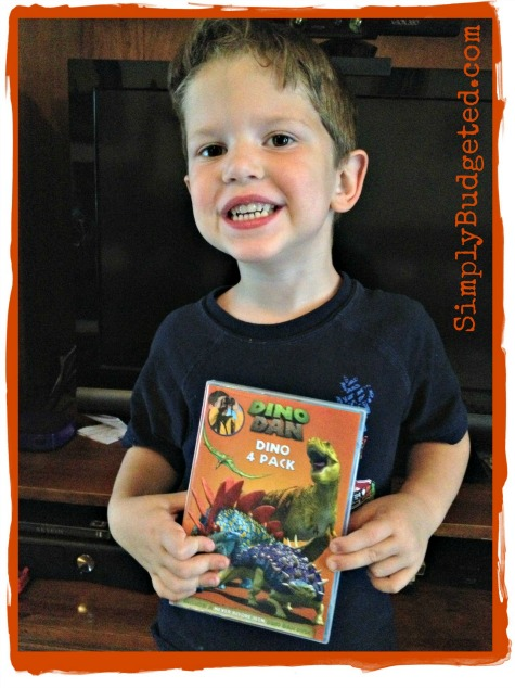Excitement over the Dino Dan DVD 4-pack!