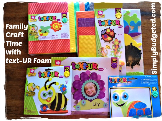 Family Craft Time with text-UR foam