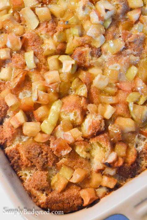 Apple Donut Bread Pudding-13