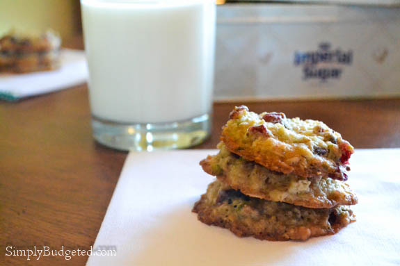 Cranberry Pistachio Oatmeal Cookies-1