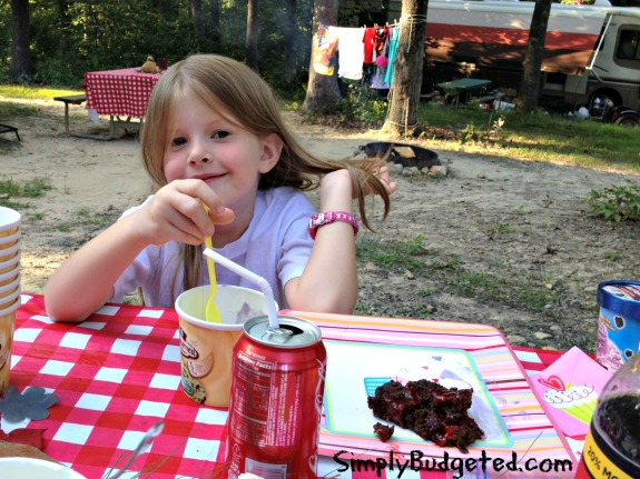 Grace's Birthday with the Campfire Dump Cake