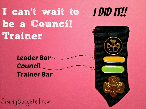 Girl Scout Leader and Council Trainer Tab