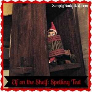 Elf On The Shelf Day 5 Spelling Test
