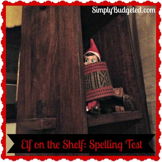Elf on the Shelf Day 5 Spelling Test Version
