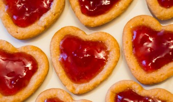 Valentine's Peanut Butter and Jelly Heart Cookies