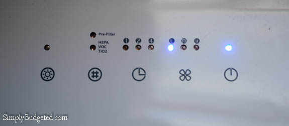Luma Air Cleaner Touch Panel
