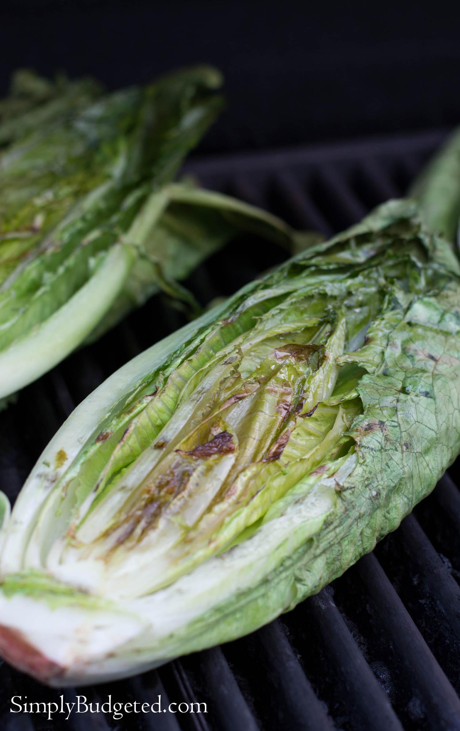 Grilled Romaine Lettuce #grilling #romaine #salad