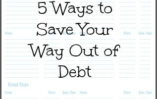Save Your Way Out of Debt