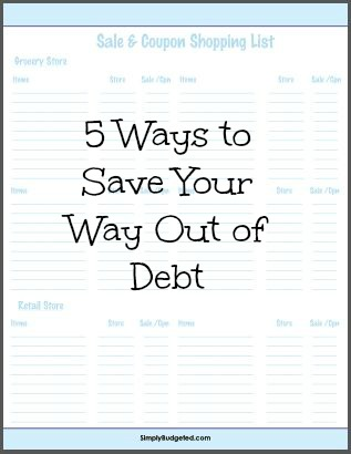 5 ways to save your way out of debt