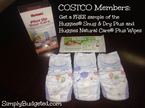 sample pack of Huggies for Costco