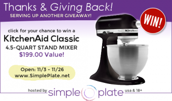 Giveaway: KitchenAid Classic 4.5 quart Stand Mixer