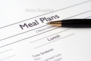October 2012 Monthly Meal Plan