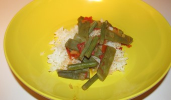 Meatless Monday:  Lubia (Stewed Green Beans)