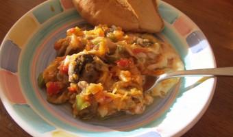Meatless Monday:  Spaghetti Squash Casserole