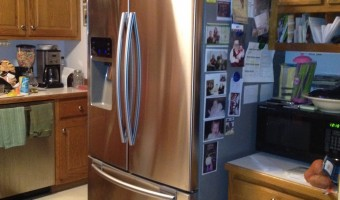 Wordless Wednesday: Out with the Old, In with the New … Fridge
