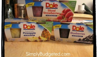 Dole's Fruit Smoothie Shakers and Frozen Fruit Single-serve Cups