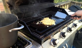 Powerless Breakfast on the Grill