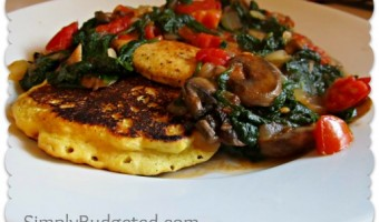 Meatless Monday:  Corn Pancakes with Sauteed Veggies
