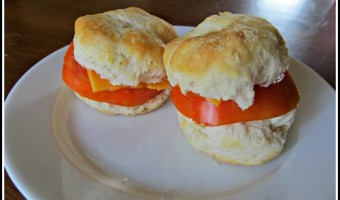 Meatless Monday:  Tomato Biscuit