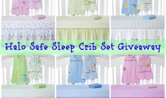 HALO Safe Sleep Crib Set Giveaway #babygifts