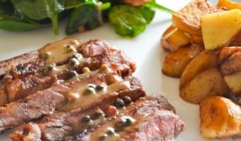 Strip Steak with Hazelnut Cream Sauce #whatsyourid
