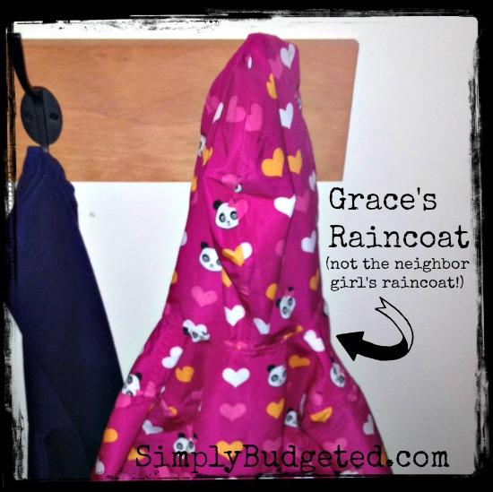 Grace's Labeled Raincoat