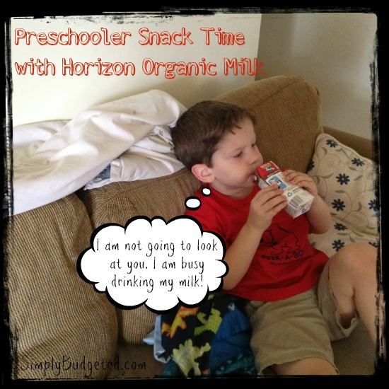 Preschool Snack Time with Horizon Organic Milk