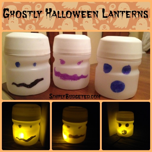 Ghostly Halloween Lanterns Craft