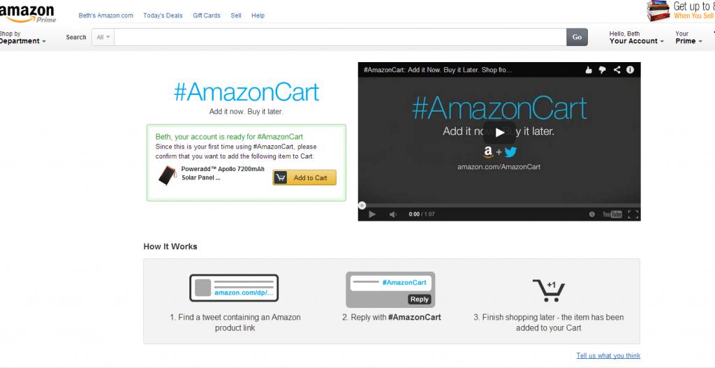 AmazonCart Enable Screen