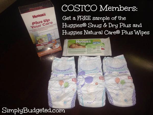 sample pack of Huggies for Costco